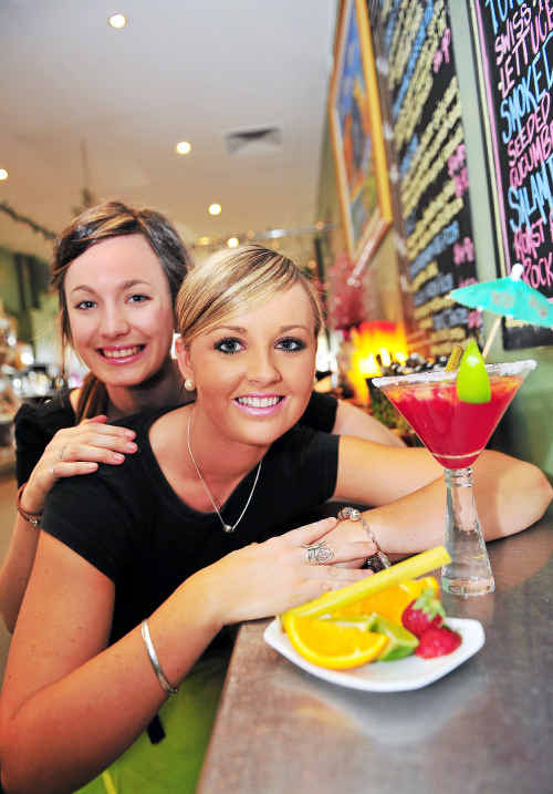 Olivia Jones and Caitlin Nash from RosieBlu took first place with their Blushing Rosie mocktail.