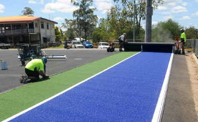 The Gympie Hockey Centre rolled out the first carpet earlier in the week.