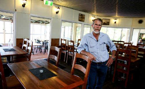 Eungella Chalet owner Tony Murray is happy to be back in business six months after Cyclone Ului struck.