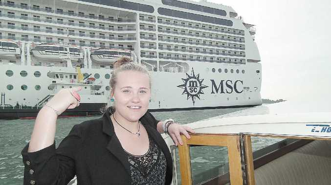 Aby Chapman and the MSC Magnifica.