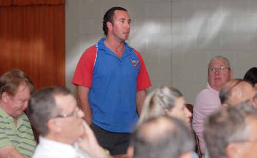 Mark Camilleri, of the Mackay Rod and Custom Car Club, spoke at last night's showgrounds community forum of his club's search for a covered area with a concrete floor where large car shows could be held.
