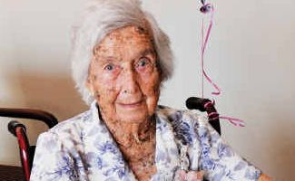 Happy birthday: Sarah Grace Nickols celebrated her 100th birthday this week in the company of family and friends.