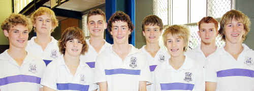 The Aldridge SHS team that won gold in the Queensland Volleyball Schools Cup under-15 honours competition in Brisbane.