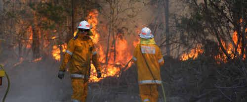 Firemen remain on alert despite the recent wet conditions.