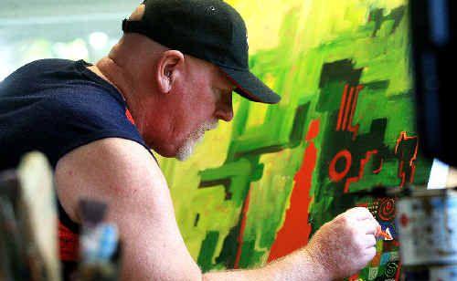 Colouring in the channels: Murwillumbah artist Graeme Stevenson will debut on the Australia small screen next week.