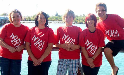 MAD Committee members Katelyn Ryan, Tegan Allen, Matt Grummitt, Gabbie Kempe and Daniel Christopher.