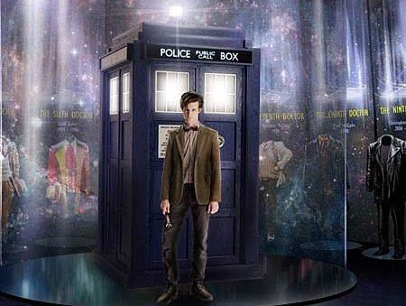 Matt Smith as the 11th Doctor Who and the TARDIS.