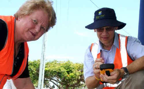 Johan Du Toit shows councillor Linda Harris some of the defects he has found while walking our streets.