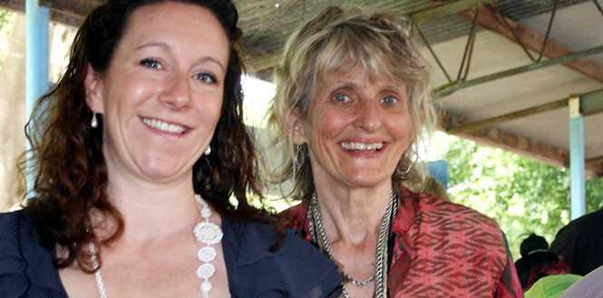 Bake-off winner Deanna Sudmals (left) and Mullumbimby Farmers Market manager Judy MacDonald.