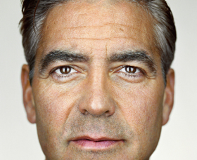 George Clooney 2007 Martin Schoeller Type C colour print (detail)