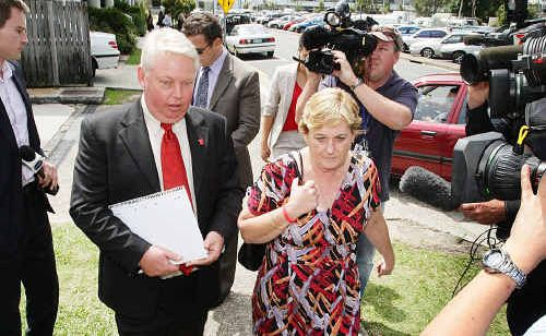 Denise and Bruce Morcombe at Maroochydore Magistrates Court.