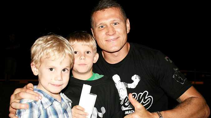 Cannonvale youngsters Darcy and Brydon Schafer were among the hundreds of fans lucky enough to spend some time with boxing world champion Danny Green at Trouble in Paradise on Saturday night.