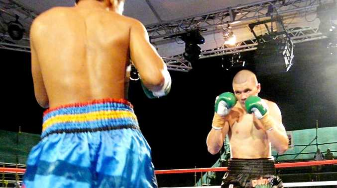 Thai fighter Denkamol Kiatchanachai stood no chance against the formidable Steve Wills in the main event at Trouble in Paradise on Saturday night.