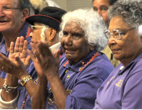 Proud: Some of the local elders at Saturday's opening.