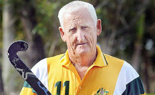 Hervey Bay's Ken Taylor played hockey for Australia in South Africa during the Grand Masters Hockey World Cup.