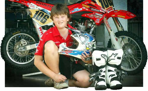 Bailey Jung is following in his dad Craig's tracks on two wheels.