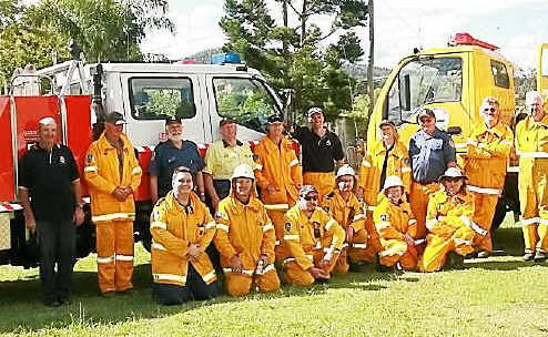 Firefighters from the Legume, Liston, Urbenville and Killarney at the Legume Fire Brigade Open Day on Saturday.