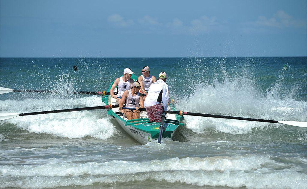 Bundaberg Surf Life Saving Club boat crews performed admirably last weekend. Club captain Paul Wessel is the sweep.