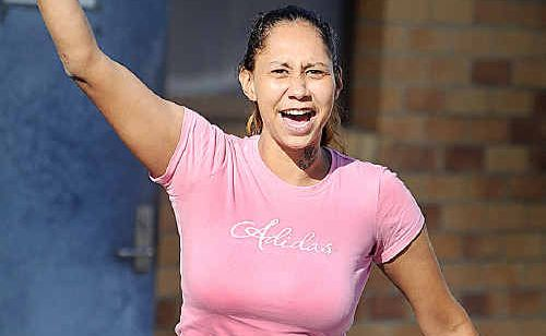 """Woo hoo I got out!""...Monique Clubb screamed for joy yesterday as she ran out of the Hervey Bay watch house after Magistrate Graeme Tatnell released her on bail."