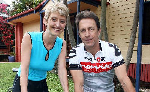 Darren and Rosie Squibb of Suffolk Park are in training for the 2011 Ride to Cure Diabetes to be held in the Barossa Valley on January 21.