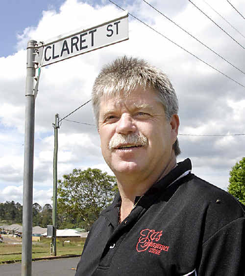 Wine Estate business owner Terry Roney has no problem with names such as Claret Street.