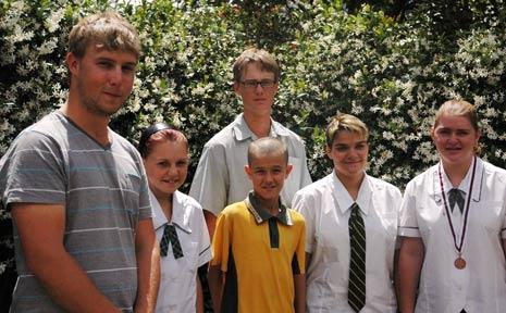 Lockyer District High School teacher Scott Cowan with Claire Coombs, Aaron Low, Dean Nielsen, Tori Farmer and Karly Staatz.