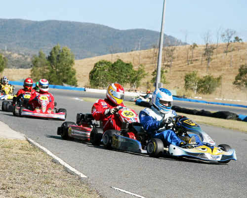 The smell of adrenalin and kart racing fuel will all mix together at Raleigh International Raceway today.