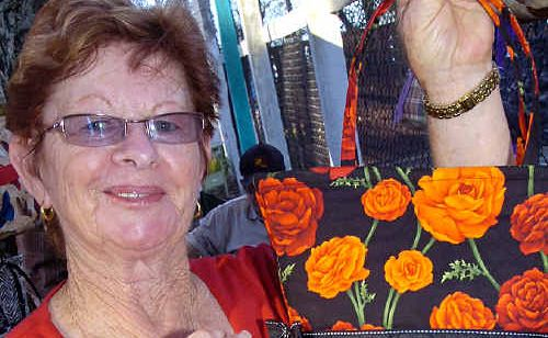 The range of goods on sale at the Torquay markets always attract interest. June Bellenger checked out the handbags the last time she popped along.