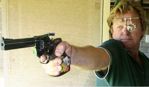 SURE AIM: Moranbah's John Lisiewicz looked in good form at the State Pistol Championships in Brisbane at the weekend. cont
