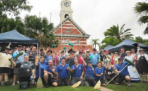 A strong crowd gathered to help out with the CBD clean-up day in Maryborough.