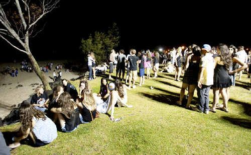 Police and volunteers will be out in force this weekend as thousands of school leavers arrive in Byron Bay to kick off the annual schoolies' celebrations. High visibility policing will include drug detection dogs and random breath tests. jay cronan