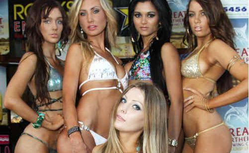 Heat winners (back, from left) Genevieve, Sarah, Angela, Brooke, (front) Mandy.