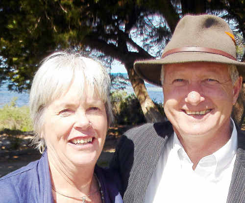 Former Warwick Shire Mayor Bruce Green – new mayor of the City of Port Lincoln SA – with his wife Julie.