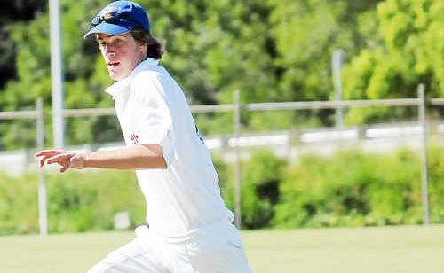 Tom White took two wickets against Fraser Coast to help Gympie to a two wicket win.