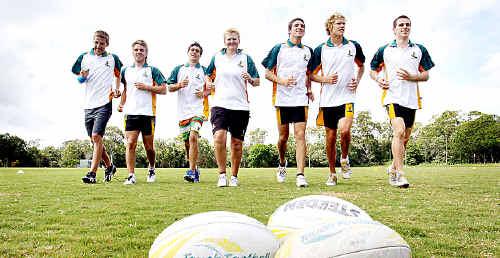 Patrick Templeman, Mitchell Broom, Brentt Warr, coach Karley Banks, Nick Pelgrave, Tyson Brough, and Matt Couper will play for Australia against New Zealand.