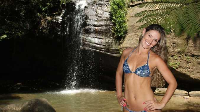 Brazilian model Larissa Artusi models at Buderim Forest Park.
