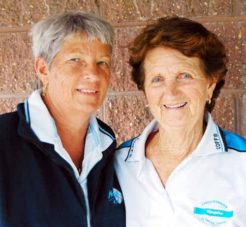 Kate Thornborough (left) has been honoured for her contribution to netball in the same way as Myra Zacher.