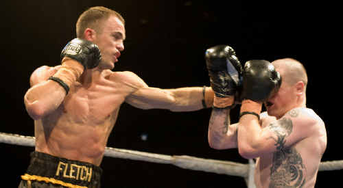 Jarrod Fletcher, seen here going on the attack against Kiwi Brad Pole, would love to have a crack at Mundine after sparring with him.