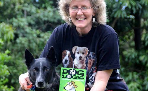 Robyn Osborne with her best mate and co-author Sox, the pair have written a book together called Dog Logic.
