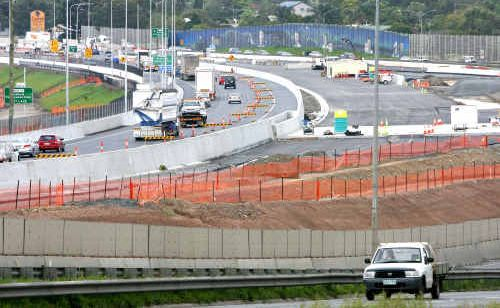 Lane closures were currently being made in stages between 8pm and 5am Sunday to Friday.