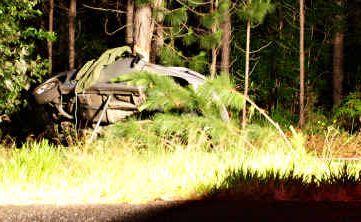 The crash scene near Beerburrum.