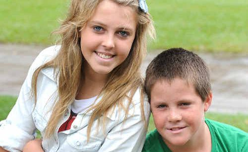 Makayla Paterson and her cousin Hayden Eames.