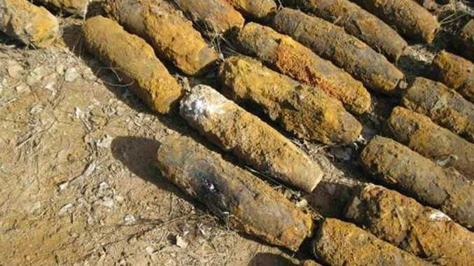 A cache of 144 mustard gas shells were uncovered at Columboola last year.