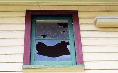 Vandals left behind a $1500 repair bill when they obliterated windows at Woolgoolga Public School.