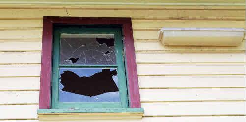 Vandals left behind a $1500 repair bill when they obliterated windows at Woolgoolga Public School.