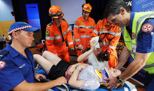 Coffs Harbour high school students have been warned the next road accident rescue they see may be the real deal.