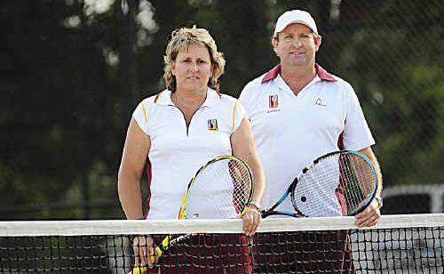 Kym Ireland and Warren Arnell will represent the state in Newcastle as part of the Queensland Tennis team.
