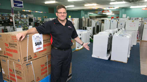 Retravision Mackay sales manager Graham Hamilton said the store had sold out of clothes dryers yesterday as people across the region rushed to buy one to cope with laundry piling up because of wet weather.
