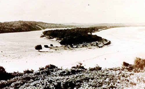 The mouth of the Wooli River before the construction of the breakwater. Photo taken around the early 1900s.