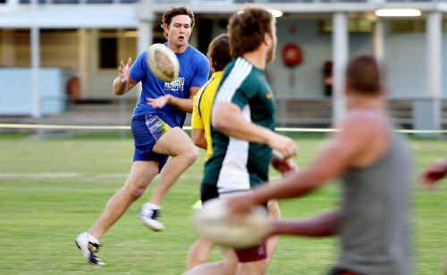 Riley McDowall trains with the Sunshine Coast Sea Eagles at Stockland Park, Kawana.